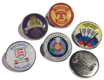 Custom standard round badge